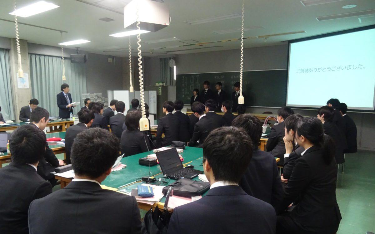 機械工学科4年生による技術審査が行われました。