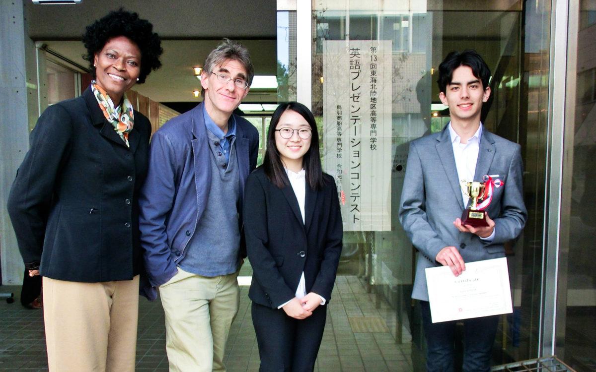高専英語プレゼンテーションコンテスト東海北陸地区 準優勝しました。