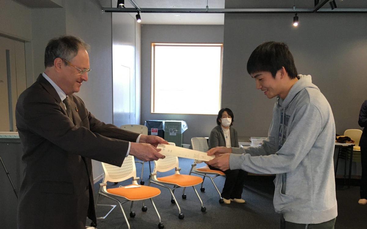 令和元年度後期 校長表彰・褒賞式が執り行われました。